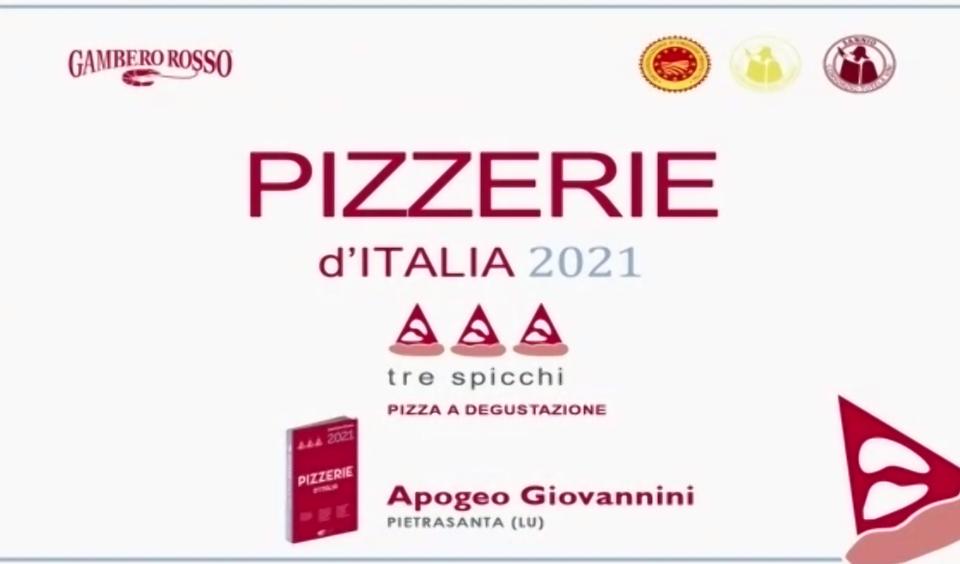 """TRE SPICCHI SU """"PIZZERIE D'ITALIA 2021"""" GAMBERO ROSSO"""